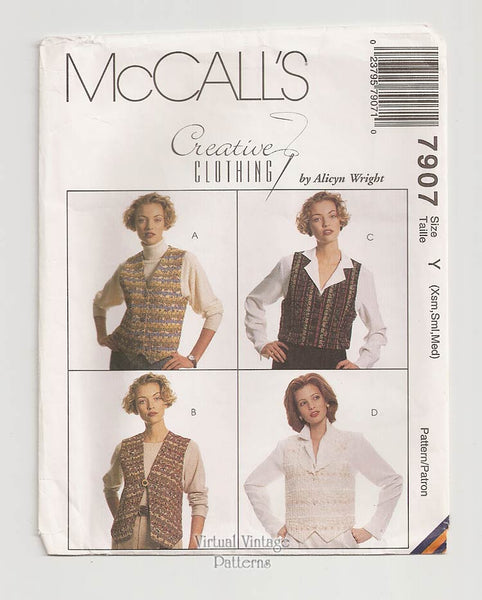 McCalls 7907, Womens Vest Pattern