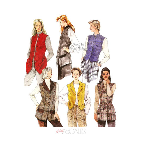 Women's Vest Patterns, McCall's 7914