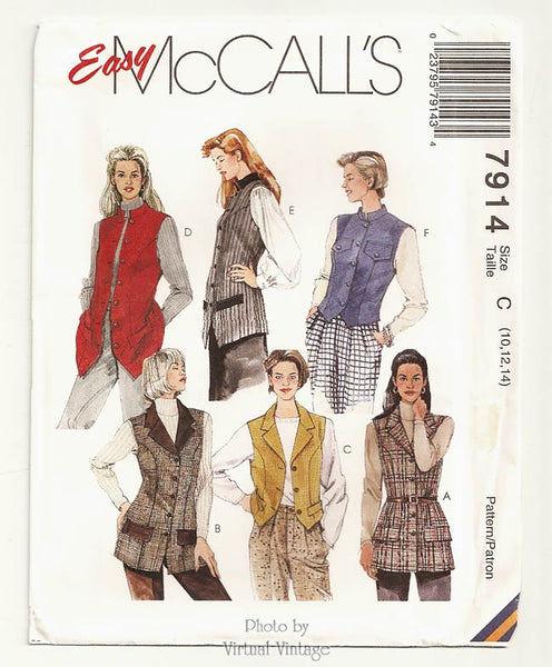 McCall's 7914, Women's Vest Patterns