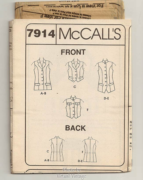 McCall's sewing pattern 7914