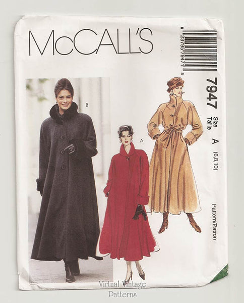McCalls 7947, Swing Coat Pattern