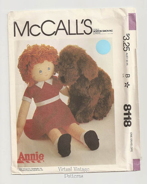 McCalls 8118, Little Orphan Annie Doll Pattern