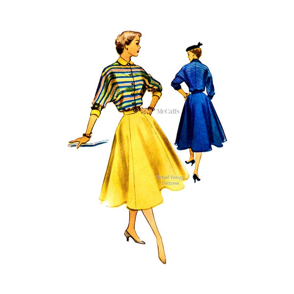 1950s Two Piece Dress Pattern, McCalls 9008