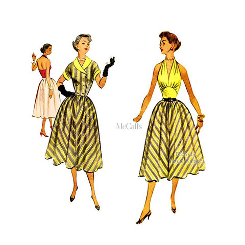 50s Halter Dress Sewing Pattern, McCalls 9333