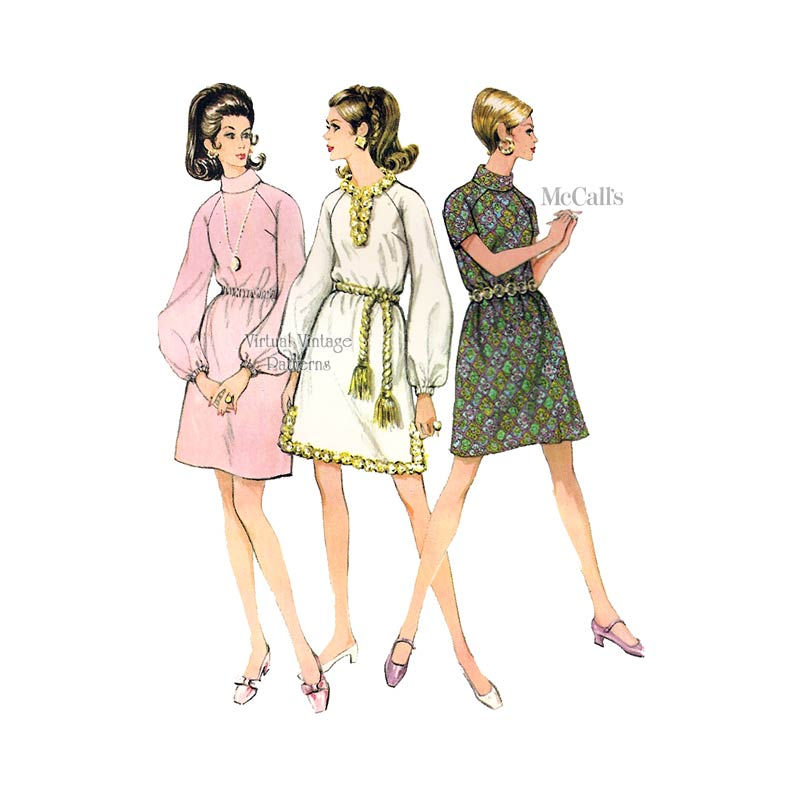 1960s Dress Sewing Pattern, McCalls 9627