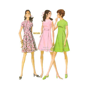 McCall's 9705 Cute A Line Dress Pattern