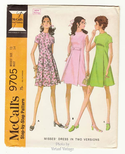 McCall's 9705 1960's sewing pattern
