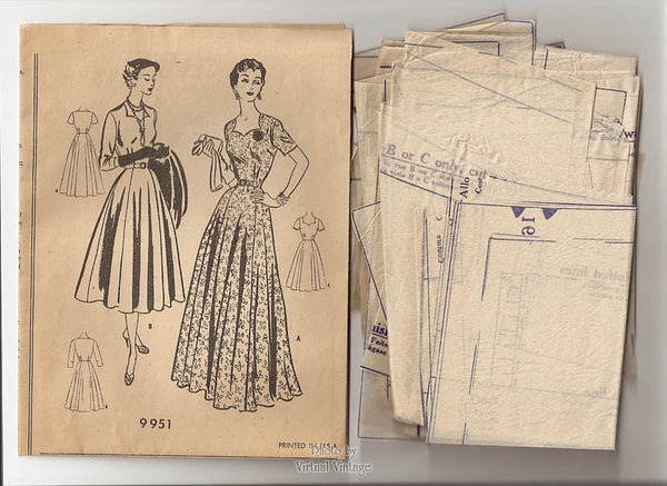 1950s McCalls sewing pattern 9951