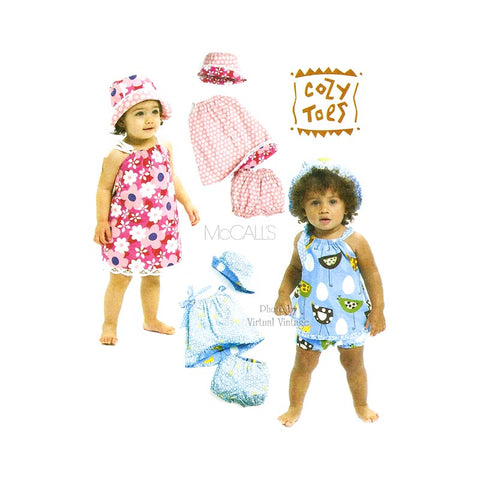 Baby Girl Sundress Pattern McCalls M6058