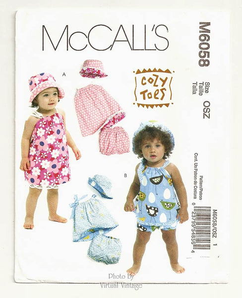 McCalls M6058, Baby Girl Sundress Pattern