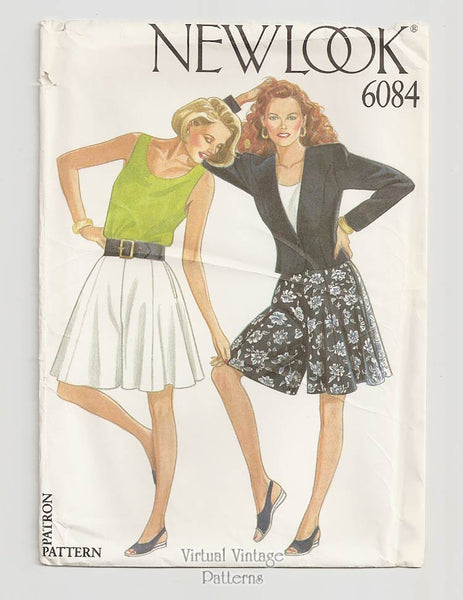 New Look 6084, Womens Jacket & Culottes Pattern