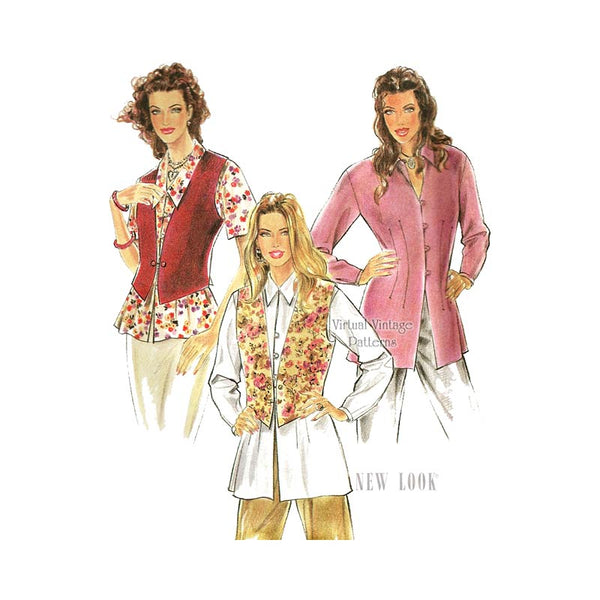 Womens Vest and Blouse Pattern, New Look 6275