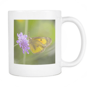 Yellow Butterfly Tea Cup
