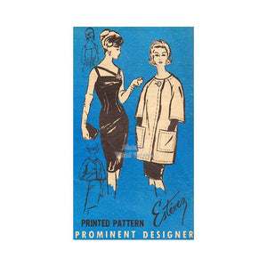 1960s Cocktail Dress Pattern, Prominent Designer A544