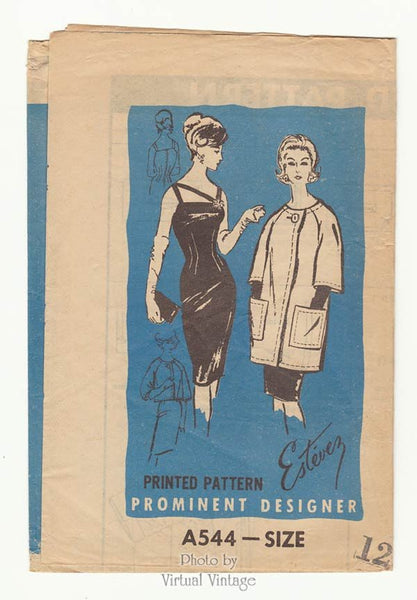 Prominent Designer A544, 1960s Cocktail Dress Pattern