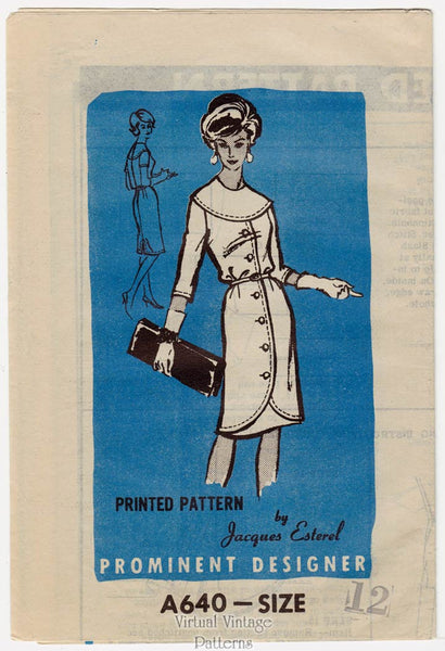 Prominent Designer A640, 1960's Coat Dress Pattern