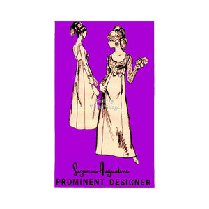 1960s Empire Waist Gown Pattern, Prominent Designer A811