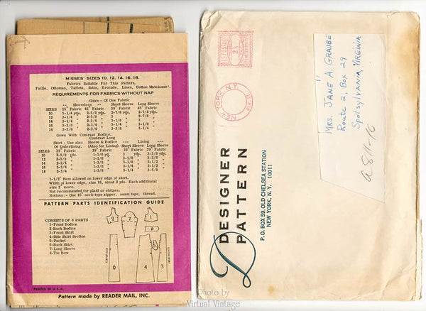 1960s Empire Waist Gown Pattern, Prominent Designer A811, Suzanne Augustine, Bust 34 or 31, Uncut