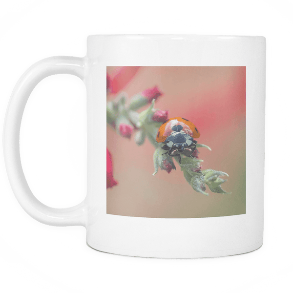 Ladybug Mug ceramic cup with lady bug