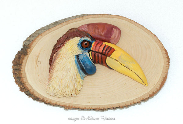 Red-knobbed Hornbill Sculpture