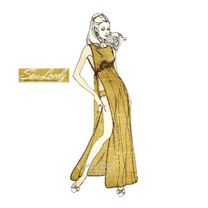 70s Toga Gown Pattern, Sew Lovely G803