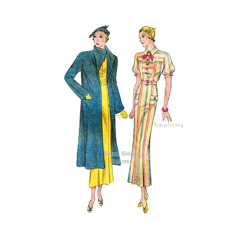 1930s Sewing Patterns, Vintage Simplicity 1418