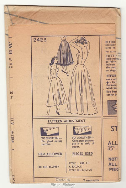 Vintage Lingerie Pattern Simplicity 2423 Half or Full Slip and Petticoat Bust 34 Easy Sewing