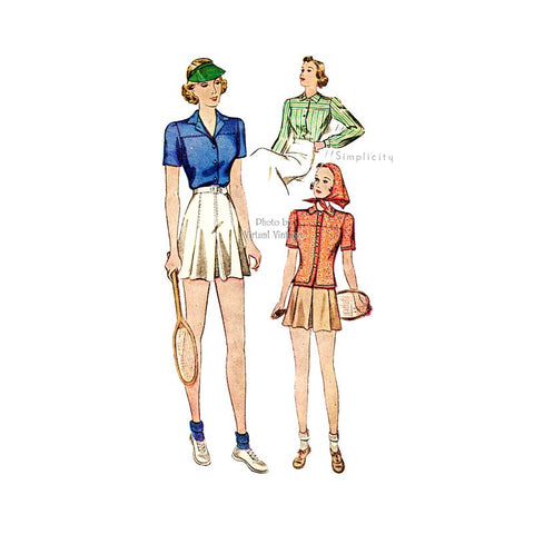 30s Sewing Pattern, Simplicity 2802