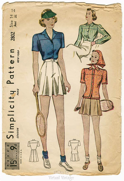 Simplicity 2802 30s Sewing Pattern