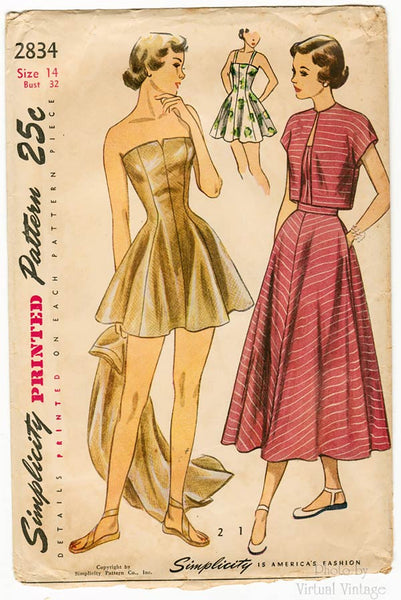 1940s Swimsuit Pattern, Simplicity 2834