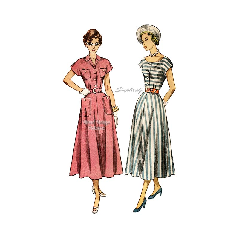 1940s Dress Sewing Pattern, Simplicity 2910