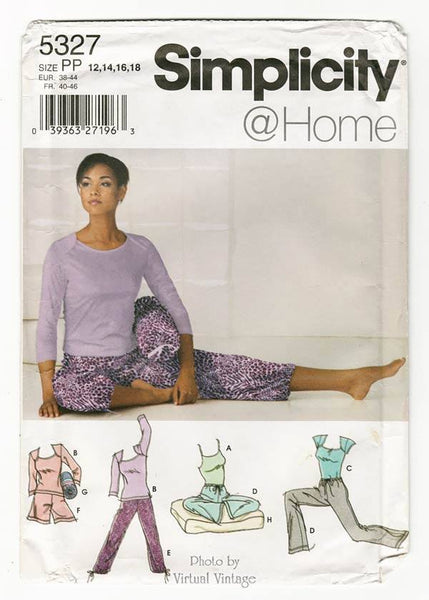 Simplicity 5327 Yoga Clothes Pattern