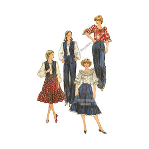 Womens Western Wear Pattern, Simplicity 5335