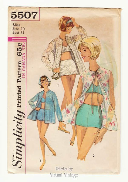 Simplicity 5507, 60s bathing suit pattern
