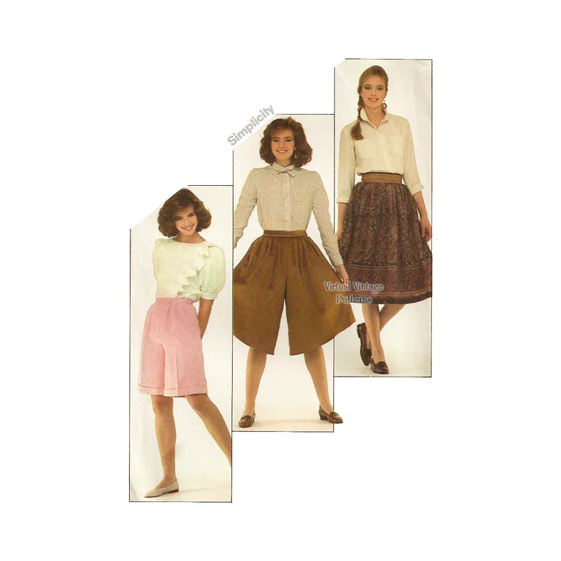 Womens Culottes Sewing Pattern, Simplicity 5574