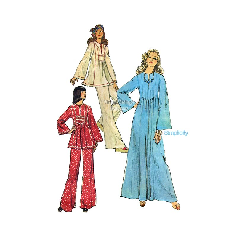 Womens Caftan Sewing Pattern, Simplicity 6044