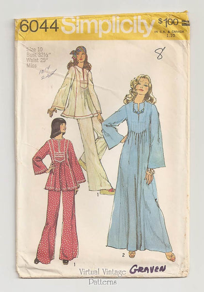 Simplicity 6044, Womens Caftan Sewing Pattern