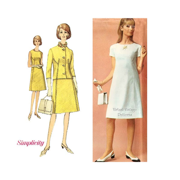 1960s Dress Pattern with Jacket, Simplicity 6404
