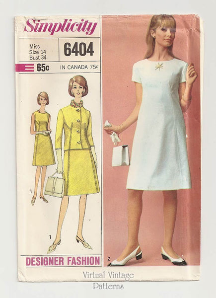 Simplicity 6404, 1960s Dress Pattern with Jacket