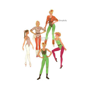 Dance Leotard Pattern, Simplicity 6485, Pull-on Pants, Leotards and Top