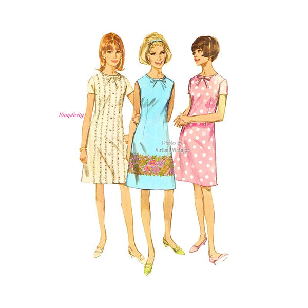Simplicity 6965 1960s shift dress pattern
