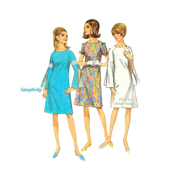 Simplicity 7006 split sleeve dress pattern