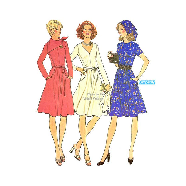 Vintage Fit & Flare Dress Pattern, Simplicity 7091