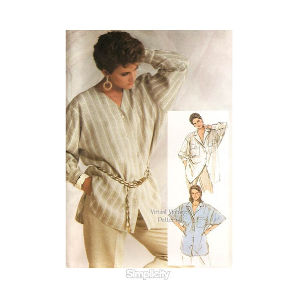 Oversized Womens Shirt Pattern, Simplicity 7284