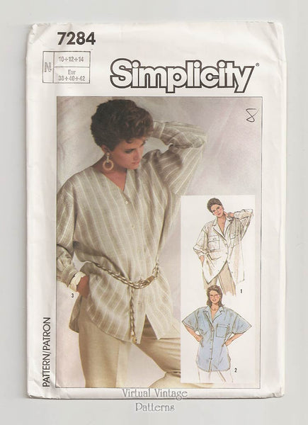 Simplicity 7284, Oversized Womens Shirt Pattern
