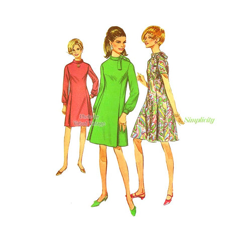 60s Dress Pattern, Simplicity 7342, Bust 36