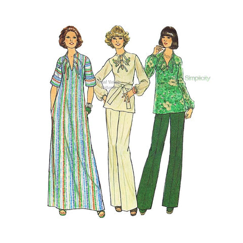 Womens Top & Pants or Caftan Patterns, Simplicity 7466