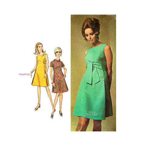 1960s Tent Dress Pattern, Simplicity 7475