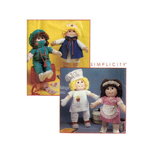 Cabbage Patch Kids Doll Clothes Pattern Simplicity 7580