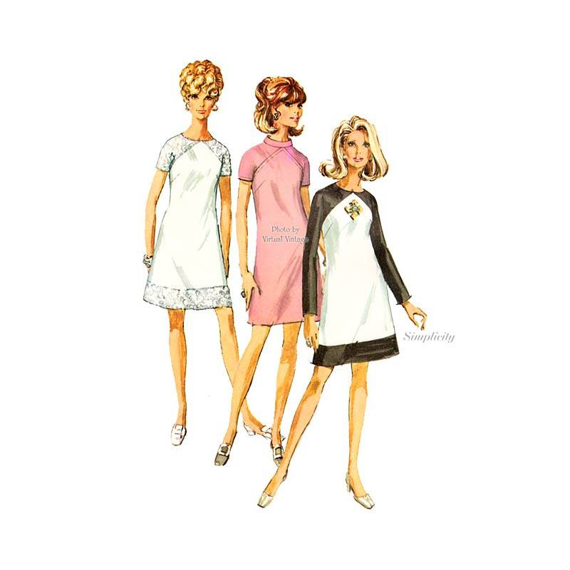 Simplicity 7749 Color Block Dress Pattern